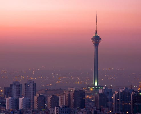 Travel to Iran - Milad Tower tehran Iran