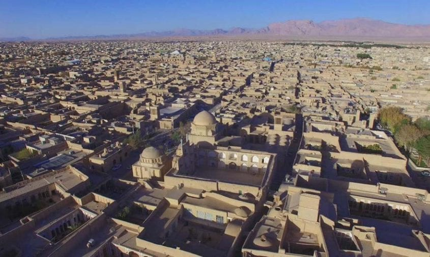 Aerial view of historic city of Yazd