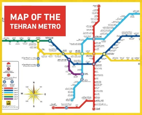 Tehran Subway Map.Metro Tehran Map