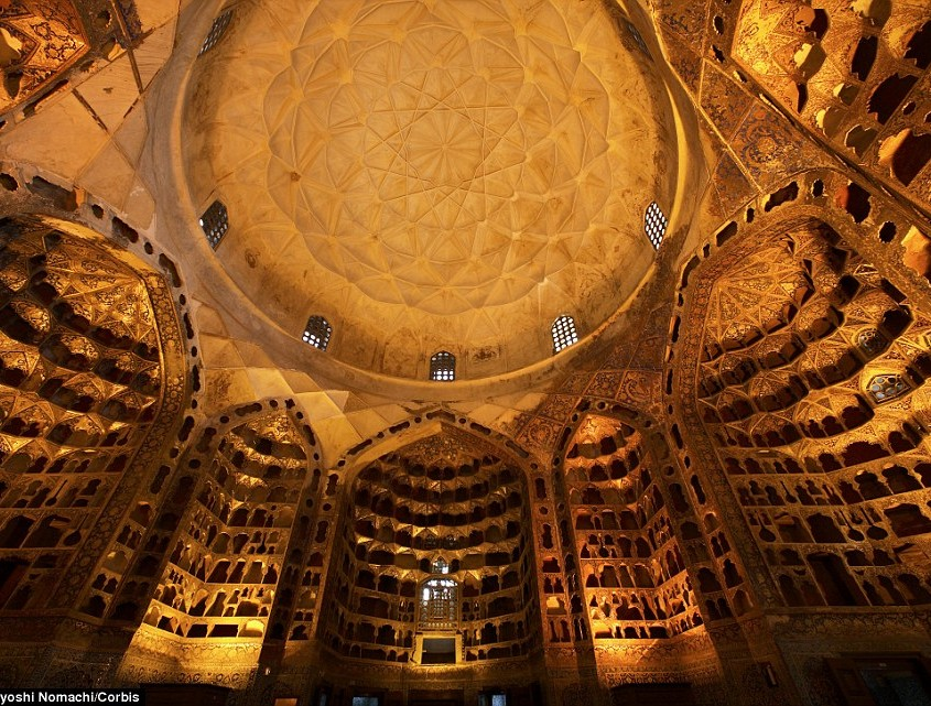 A jaw-dropping vast dome interior at the Mausoleum of Sheikh Safi-ad-din Arbabili in Ardabil