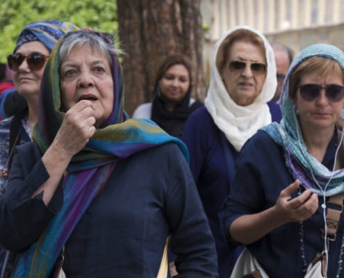 Italian tourists in Iran