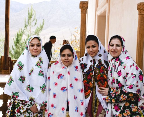Local tourists in Abyaneh Village