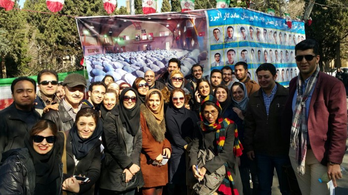 Thousands of Iranian students take the final exams to become licensed tour guide