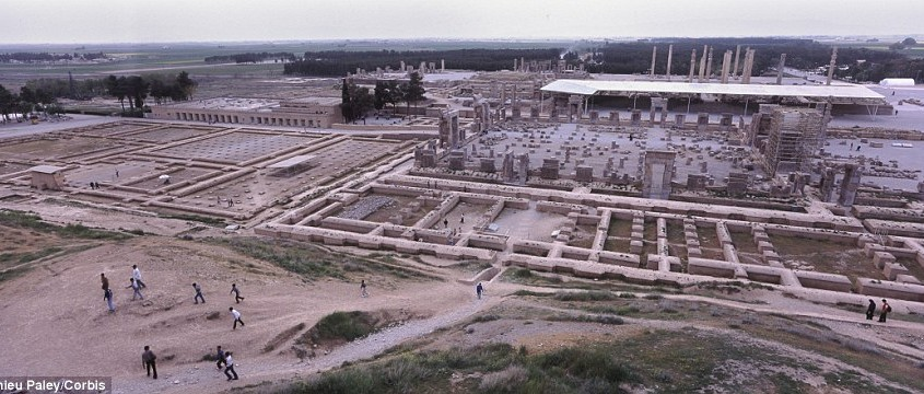Tourists can see the ancient Persian capital, Persepolis, built by Persian emperors from Darius to Xerxes and construction ceased with the downfall of the Achaemenid dynasty