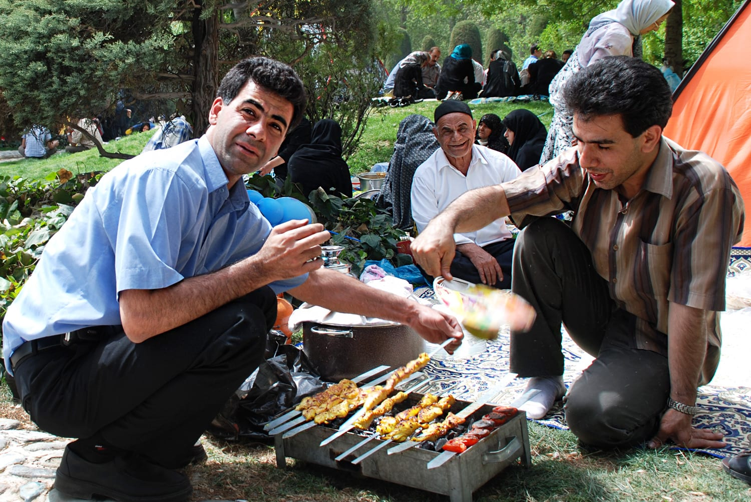 How does Tehran look like during Iranian Nowruz