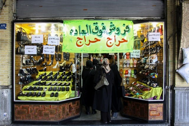 Iranians attend Tehran's Grand Bazaar for New Year