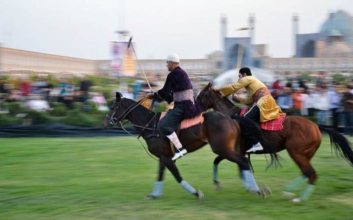 Symbolic polo match in the Naqsh-e jahan square, Isfahan