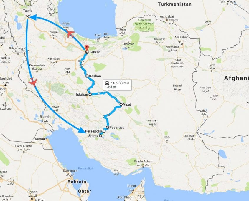 14-Day Iran Tour – Northwest to South