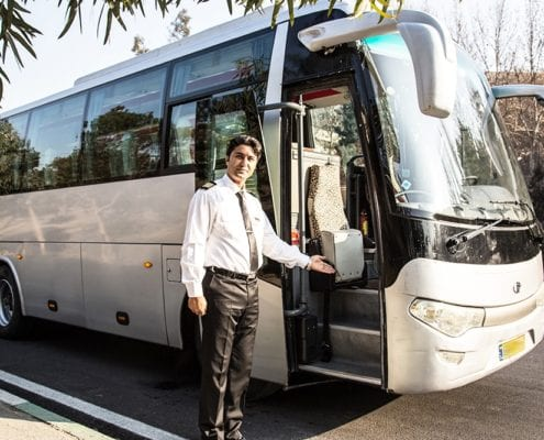 Middle Bus Pishro Diesel - Car Hire Iran