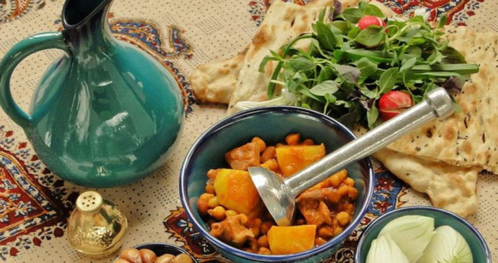Abgoosht is one of the most traditional Iranian foods.