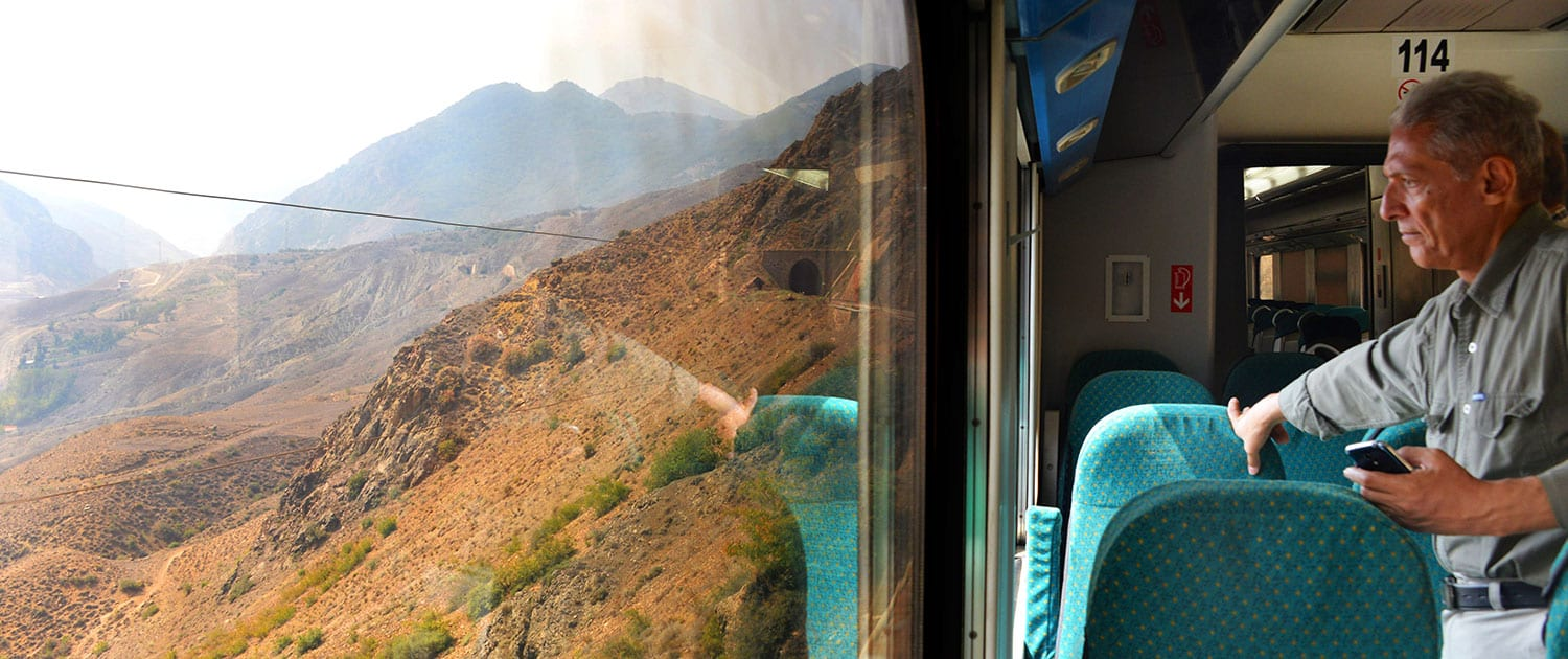 Iran Rail Tour - Crossing The Mountains Of Alborz On A Private Train