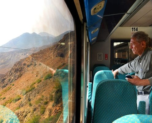 Crossing The Mountains Of Alborz On A Private Train