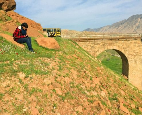 Iran Rail Tour – Stone Crossing On A Private Train