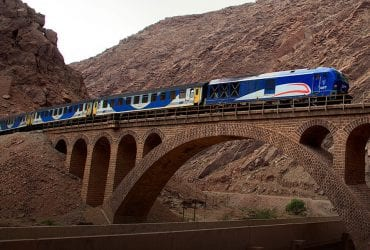 Iran Rail Tour - Iran Train Tour - Crossing the Alborz Mountains on a Private Train