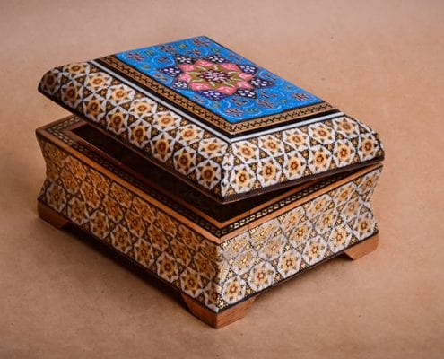 Khātam is an ancient Persian technique of inlaying.