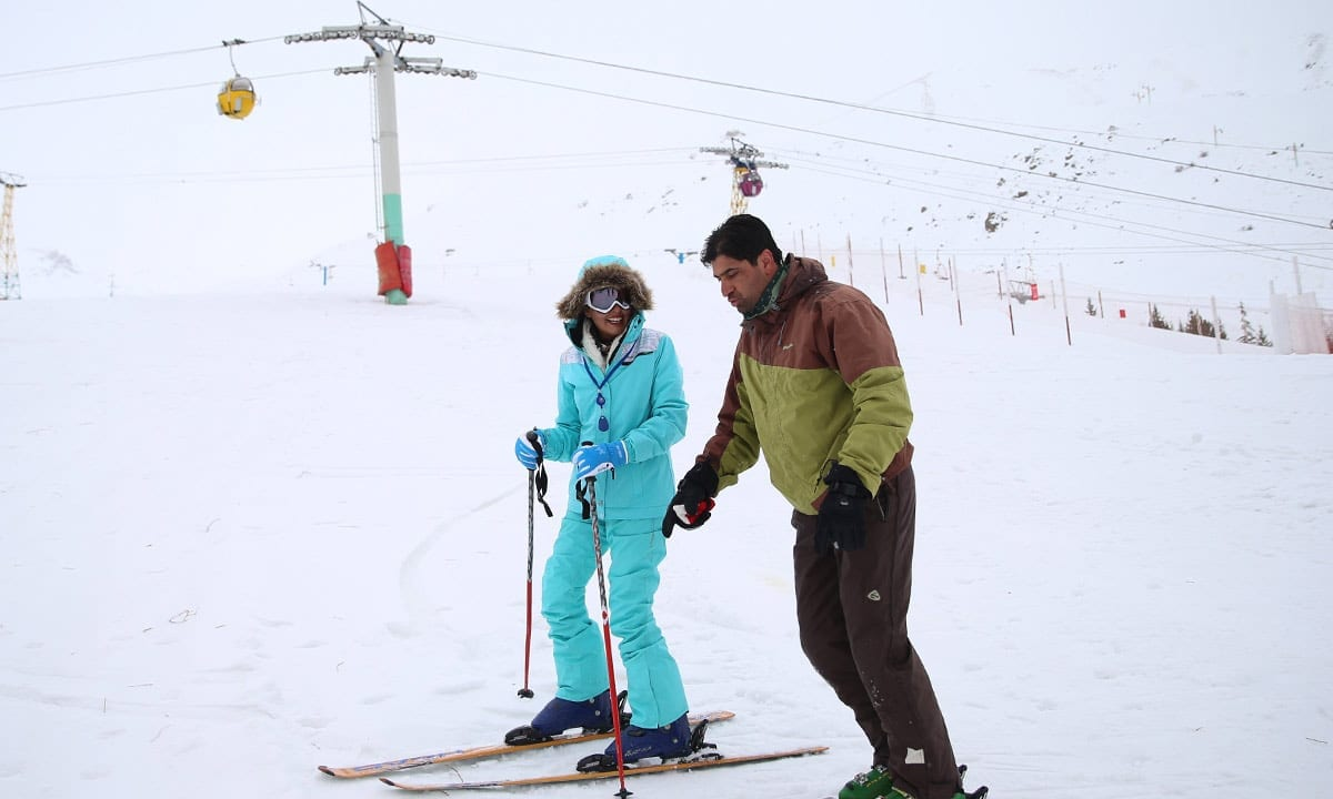 Dizin Ski Resort in Tehran