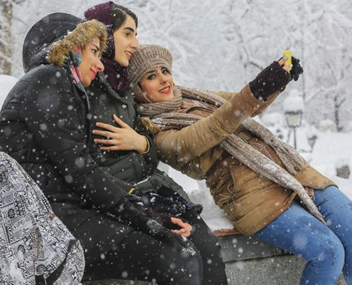The first snowfall in Tehran