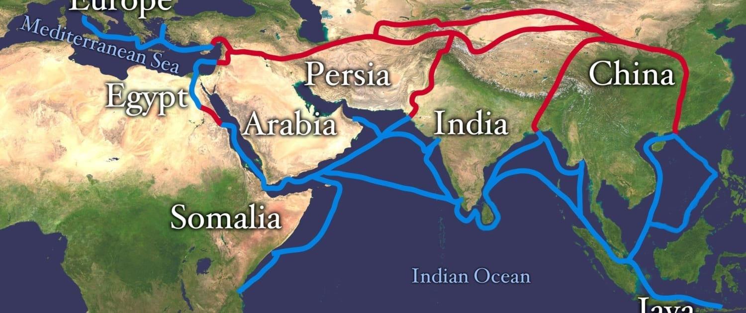 Main routes of the Silk Road
