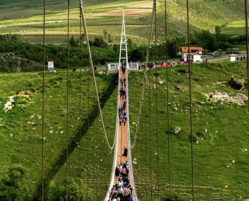 Meshgin Shahr Suspension Bridge, the tallest one in the Middle East